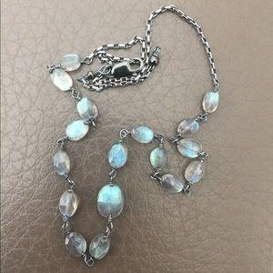 Jewelry - Stunning Oxidized Sterling Labradorite Necklace